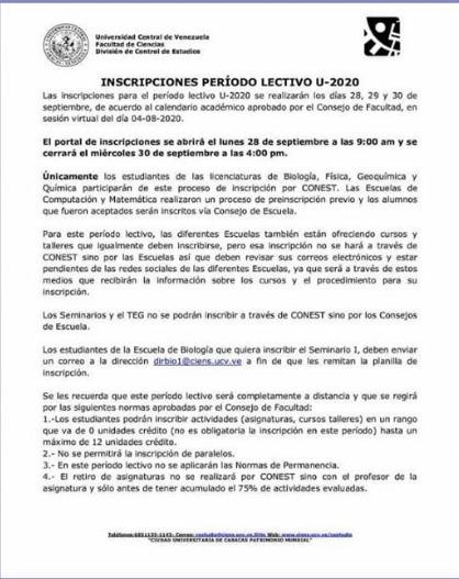 Proceso de Inscripcion U2020