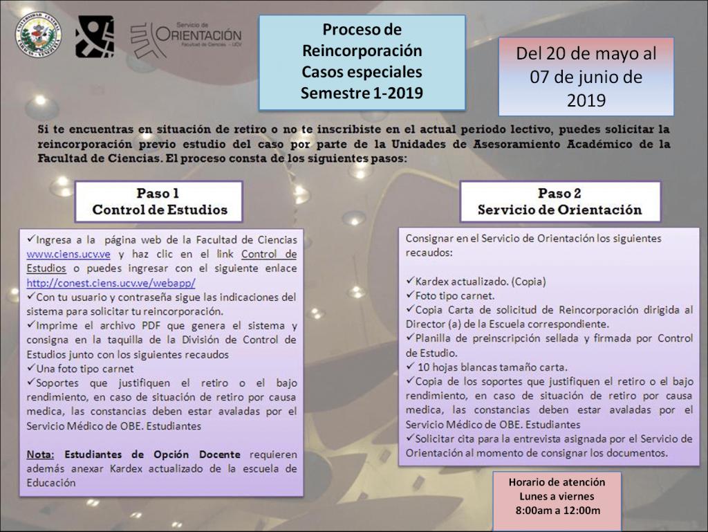 Reincorporaciones casos especiales1-2019